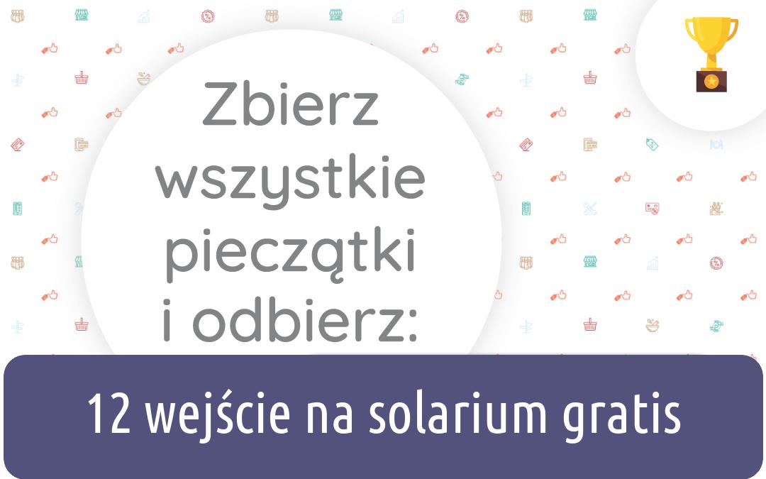 wejście na solarium gratis